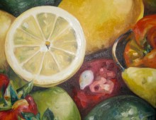 Fruit. Oil on Canvas. 30″ x 30″. 2011. SOLD
