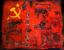 Homage to the Russian Revolution. 30″ x 30″. Mixed Media on Canvas. 2009. SOLD. SOLD