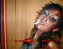 Yael. Acrylic on Wood Panel. 38″ x 48″. 2010. SOLD