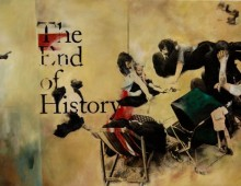 The End of History. 5 ft x 3 ft. Acrylic & Transfer on Canvas. 2012.