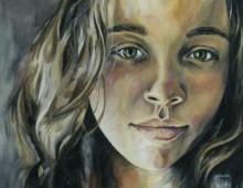 Chrissy. Acrylic on Canvas. 4 ft. x 4 ft. 2010.