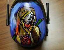 Dredg Headphones. Acrylic on Plastic headphone Covers. 2010