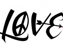 Peace In, Love Out. Tattoo Design. 2012.