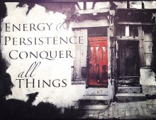 Conquer All Things. Acrylic and Photo Transfer on Canvas. 4 ft. x 5 ft. 2011